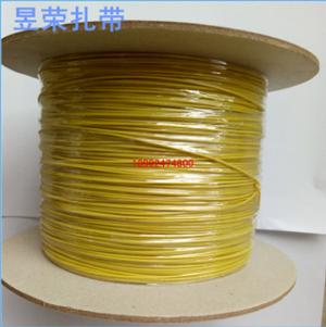 厂家直销PE铁芯扎带 黄色包胶铁