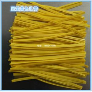 厂家直销PE塑料扎线环保扎带镀锌黄色铁丝铁芯扎丝