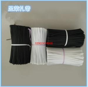 深圳扎带厂家直销 包塑铁线扎带扎丝 PE铁芯扎带 黑色 白色