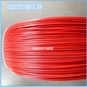 厂家直销PVC电缆扎带 红色圆形2.