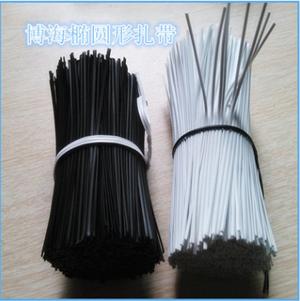 厂家直销PE铁芯扎带环保包胶铁线耳机扎带镀锌铁丝包塑铁线扎带