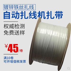PE机用铁芯扎带 0.45MM椭圆扎线 包塑自动扎线机扎线